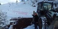 Yücel#039;e teşekkürünü kar üzerine yazdı