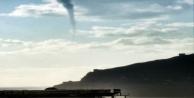 Alanyada denizde çıkan hortum korkuttu!
