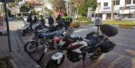 Alanyada motosiklet sürücülerine ceza yağdı!