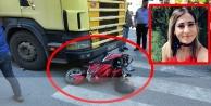 Kamyonun altında kalan motor sürücüsü Selvinaz'ın durumu ağır