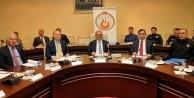 Güvenlik tedbirleri için AÜde toplandılar