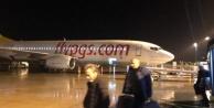 Alanya GZP#039;de uçağı su bastı!