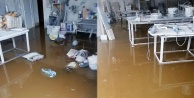 Alanyada mermer dükkanını su bastı!