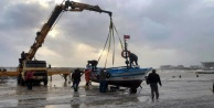 Alanyadaki fırtınada liman çöktü!