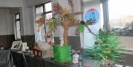 Öğrenciler çöpleri sanata çevirdi