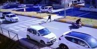 Yaya geçidinde inanılmaz kaza: 1 kişi yaralandı