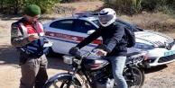 Alanya#039;da jandarma çalıntı motosikleti buldu!