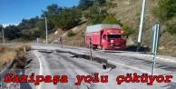 Alanya Gaziapaşa yolu çöktü! Bölge halkı panik içinde