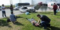D-400deki feci kaza! 4 kişi yaralandı