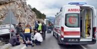 Otomobil takla attı: 2 kişi ağır yaralandı!