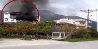 Alanya'da korkutan ev yangını!