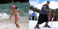 Alanyada hem kar hem de deniz keyfi