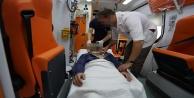 Alanyada korkunç kaza! 1 yaralı