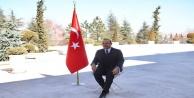 Bakan Çavuşoğlu Türkiyenin tanıtımı için poz verdi