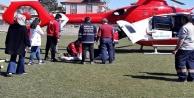 Hava ambulansı Rabia teyze için havalandı!