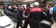 Alanyada quot;durquot; ihtarına uymayan motosikletli polisleri alarma geçirdi