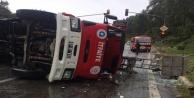 İtfaiye ekipleri kaza yaptı: 3 yaralı