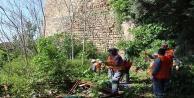 Büyükşehirden tarihi surlarda bahar temizliği