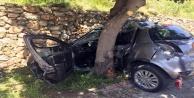 Alanya#039;da hurdaya dönen araçtan sağ çıktılar