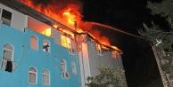 Otelin personel lojmanında yangın