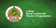 Alanyaspor#039;un kamp programı belli oldu