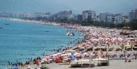 Antalya#039;da sahillerde hafta sonu yoğunluğu