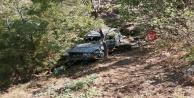 Gazipaşa#39;da uçuruma yuvarlanan otomobilden sağ çıktılar