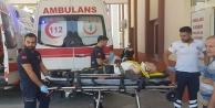 Gündoğmuş#039;ta erik ağacından düşen yaşlı adam yaralandı