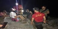 Kanyonda kaybolan öğretmenler, saatler sonra bulunup kurtarıldı
