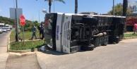 Alanya#039;da Tur midibüsü ile şehiriçi toplu taşıma midibüsü çarpıştı: 1 yaralı