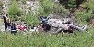 Alanya'da araç uçuruma yuvarlandı: 1 ölü var