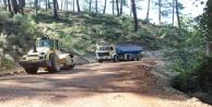 Büyükşehir Kumlucada yol yapım çalışmalarını sürdürüyor