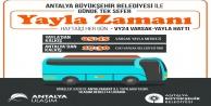 Büyükşehirden Varsak Yaylasına otobüs seferi