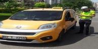 Ticari taksiler denetlendi