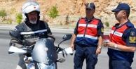 Alanya#039;da jandarma motosikletleri mercek altına aldı