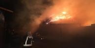 Alanya#039;da makinadan çıkan kıvılcım yangın çıkarttı