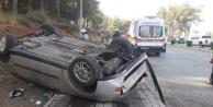 Alanya plakalı araç Manavgat#039;ta takla attı: 2 yaralı var