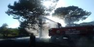 Antalya#039;da antik kentte yangın çıktı