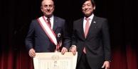 Çavuşoğlu#039;na Japonya devlet nişanı verildi