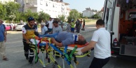 Kavşakta çarpışan araçlar hurdaya döndü: 2 yaralı