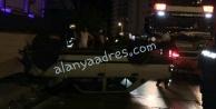 Alanya#039;da makas atmak isterken takla attı