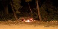 Alanya#039;da ormanlık alanda yakılan ateş vatandaşları harekete geçirdi