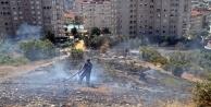 Alanya#039;da panik yaratan yangın