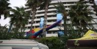 Deniz paraşütünün halatı koptu