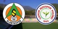 Alanyaspor Rizespor maçının 11#039;leri belli oldu