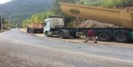 Alanya#039;da bozulan yollar asfaltlandı