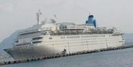 Dev yolcu gemisi Alanya Limanı#039;na demir attı