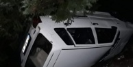 Alanya#039;da kayan otomobil şarampole uçtu