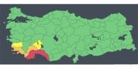 Antalya için quot;kırmızı kodluquot; uyarının kaldırıldığı açıklandı