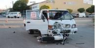Alanya#039;da kamyonetle motosiklet çarpıştı: 1 yaralı var